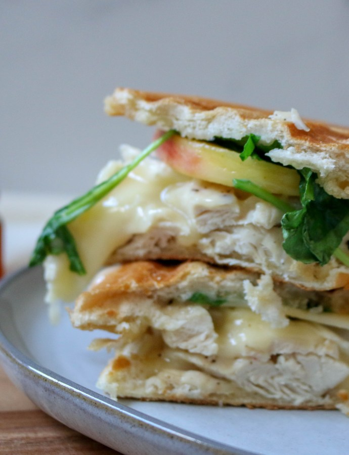 Chicken Apple Brie Panini Sandwich