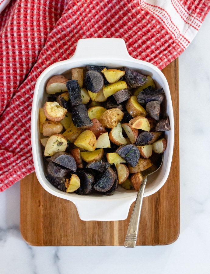 Herby Roasted New Potatoes