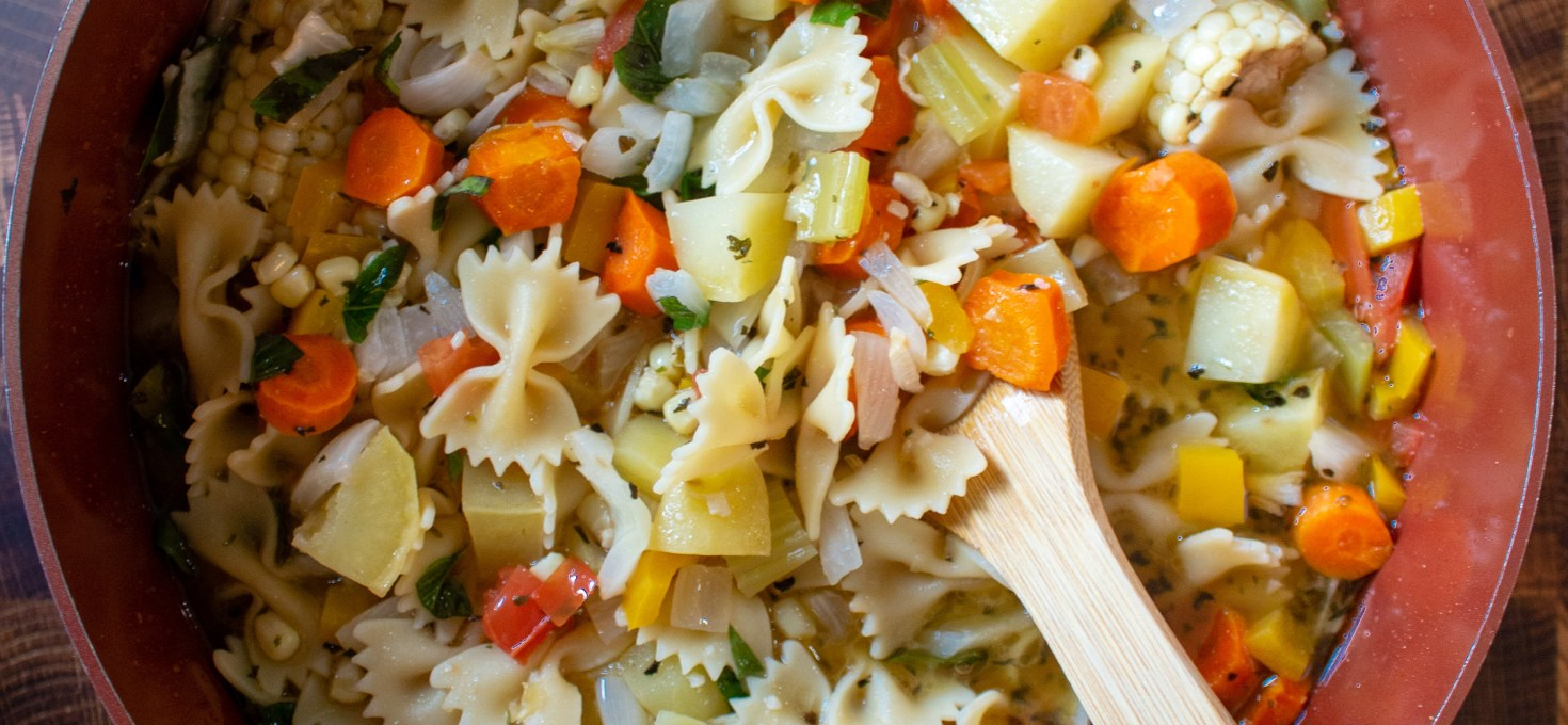 Backyard Garden Veggie Noodle Soup
