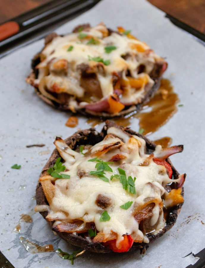 Philly Cheesesteak Stuffed Portobellos