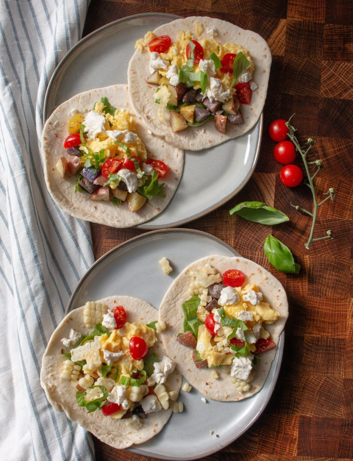 Corn + Tomato Breakfast Tacos