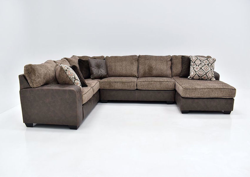 abalone sectional sofa right brown