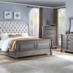 Lake Way King Size Bedroom Set Gray Pecan Home Furniture Plus Bedding