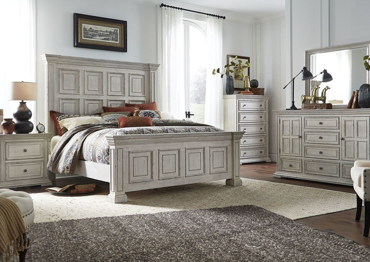 big valley queen size bedroom set white