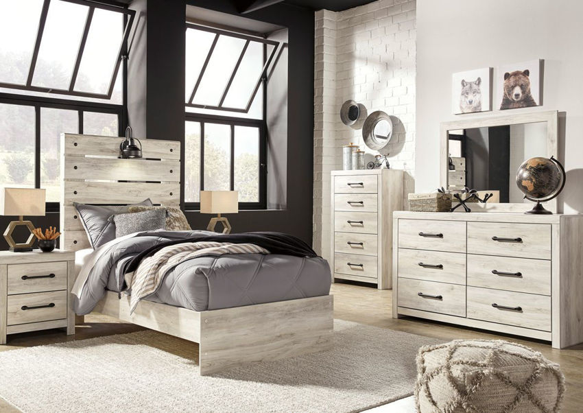 cambeck twin size bedroom set white