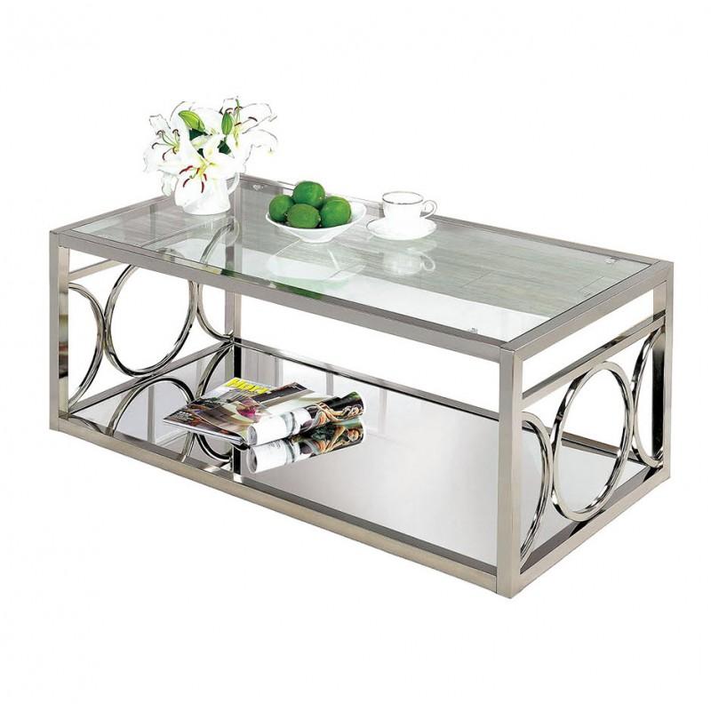 suh chrome glass coffee table