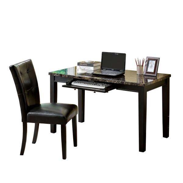 Deng Antique Oak Desk with Faux Marble Top