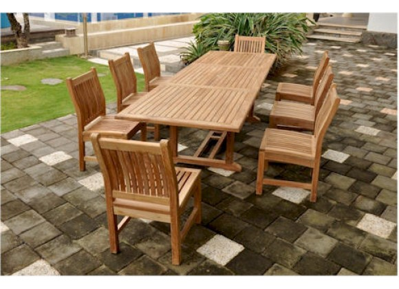Anderson Teak Sahara 9-Piece Dining Chair And Bahama 118