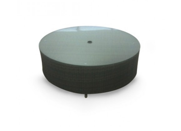 source outdoor circa 48 inch round coffee table with umbrella hole
