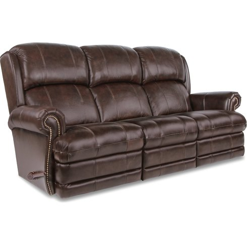 reclining sofa with nailhead trim leather review kirkwood full w brass nail head home furniture co