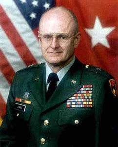 "Brig. Gen. (Retired) James P. Combs, was Maj. Gen. Edmund Zysk's Chief  of Staff in 1998. Zysk  publically  praised Combs on a frequent  basis.  Zysk designated Combs  to  brief the Los Angeles  Times in 1998  on the  overview of the  40th Infantry Division (Mechanized) readiness issues. Combs presented an informative,  pithy, and  sometimes ""theatrical"" brief that set the stage for the Times post  brief questions. It's at this time when Zysk  delivered a succinct, but truthful,  summary of what  his  soldiers were saying to him: ""They will vote  with the heels of their booth."""