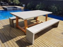 Outdoor Furniture 2mt X 1mt Grc Concrete Table 2