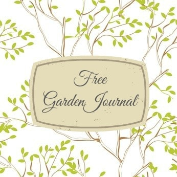 garden journal template