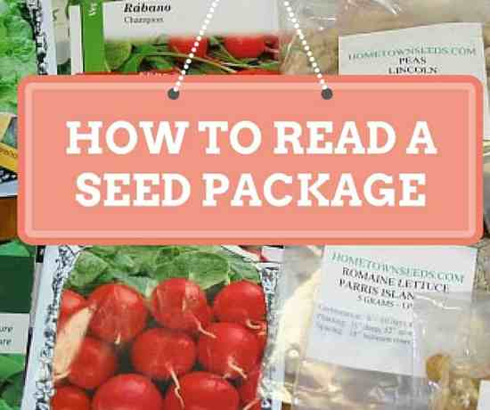 how to read a seed package
