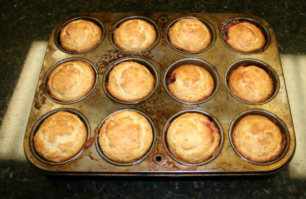 final raspberry filled muffins
