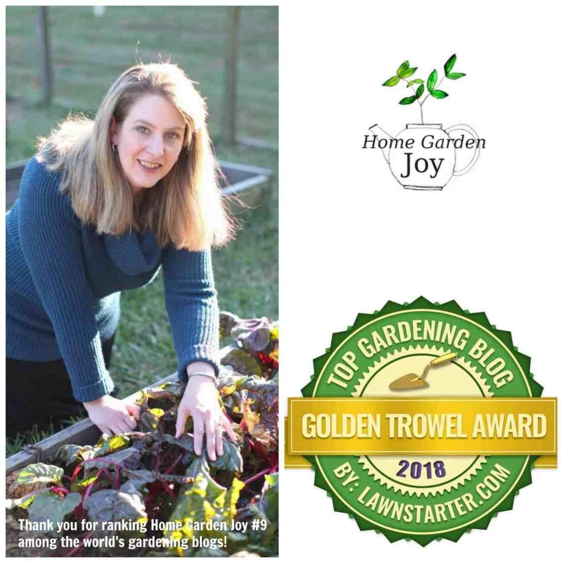 Home Garden Joy 2018 winner
