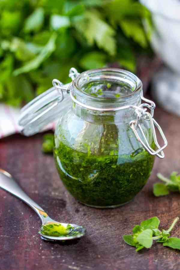picture of pesto sauce from DepositPhoto