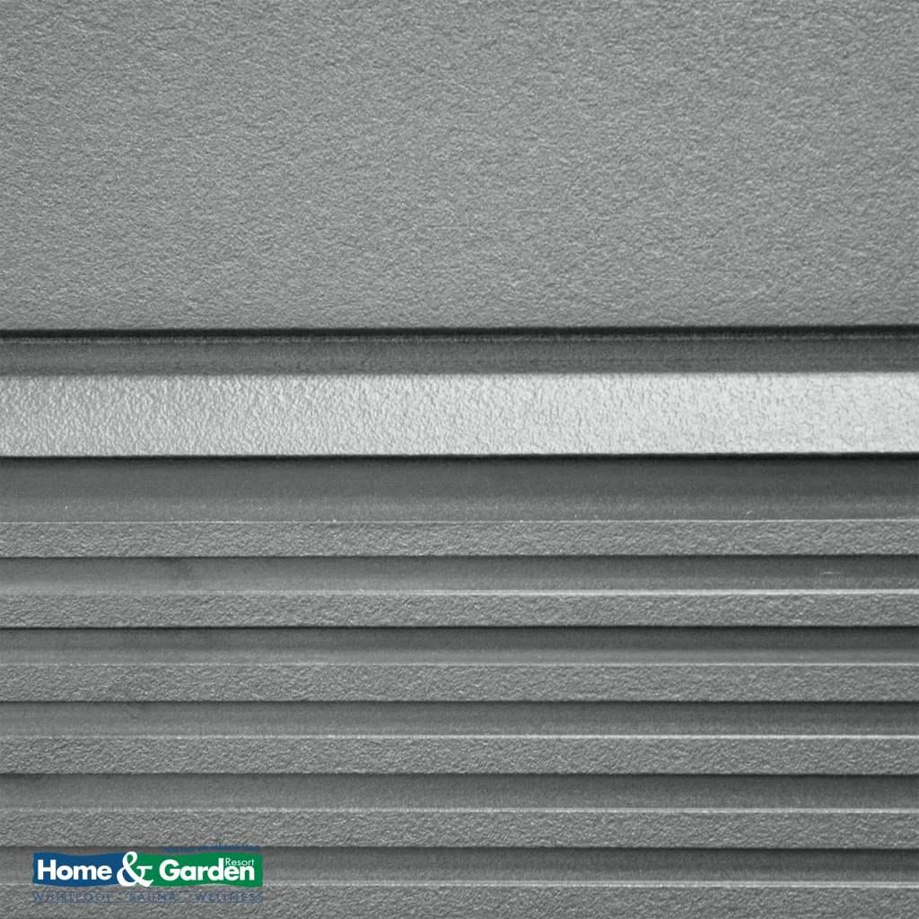 Foto van de Avante™-omkasting voor de Vacanza-serie van Caldera. De omkasting op de foto is uitgevoerd in de kleur ash.