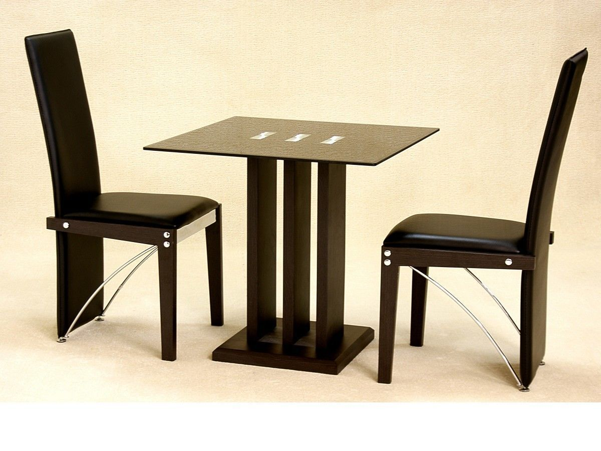 Table With Two Chairs Small Square Glass Dining Table And 2 Chairs In Black