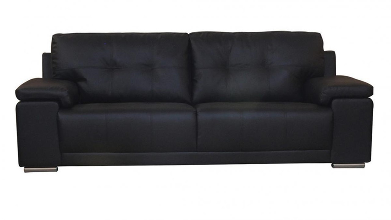 Black Brown 3 2 1 Seater Leather Sofa Set Homegenies