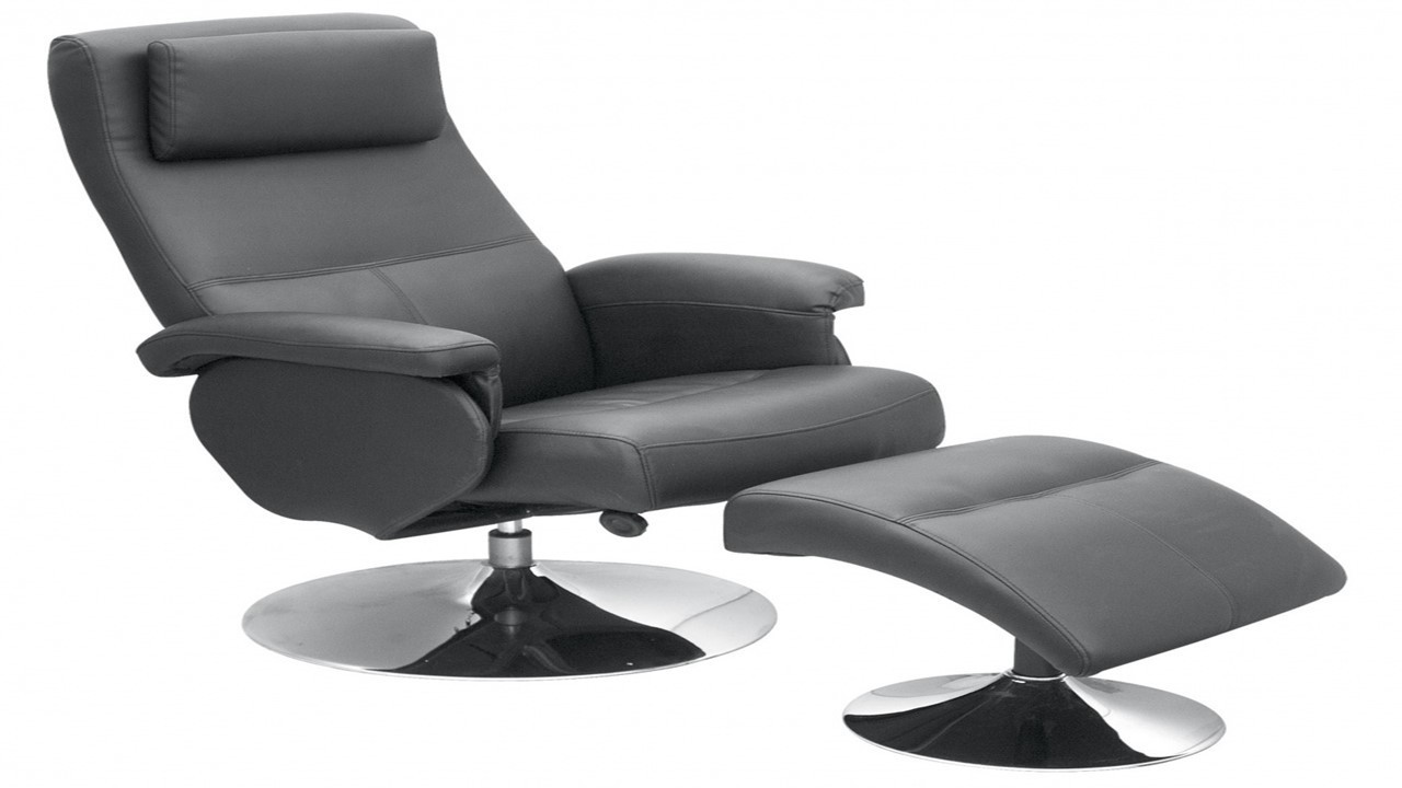 Leather Reclining Chairs Black Faux Leather Recliner Chair