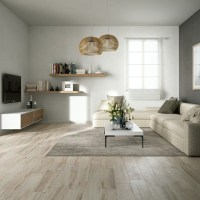 Wood effect floor tiles give living rooms timber plank ...
