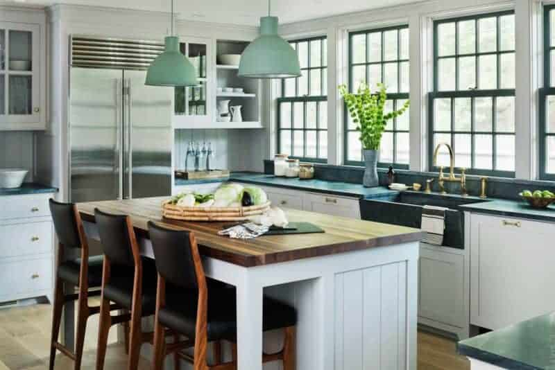 colored kitchen islands undermount sinks colorful island pendants lanterns home glow design green