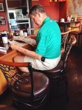 Larry is an avid Notre Dame fan and another everyday regular whose routine includes 2-3 cups of coffee, eggs, bacon, wheat toast, and the morning paper.