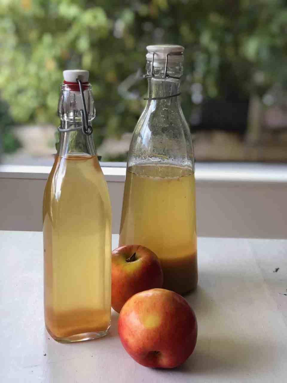 EVEN EASIER: Homemade Apple Cider Vinegar from Apple Scraps