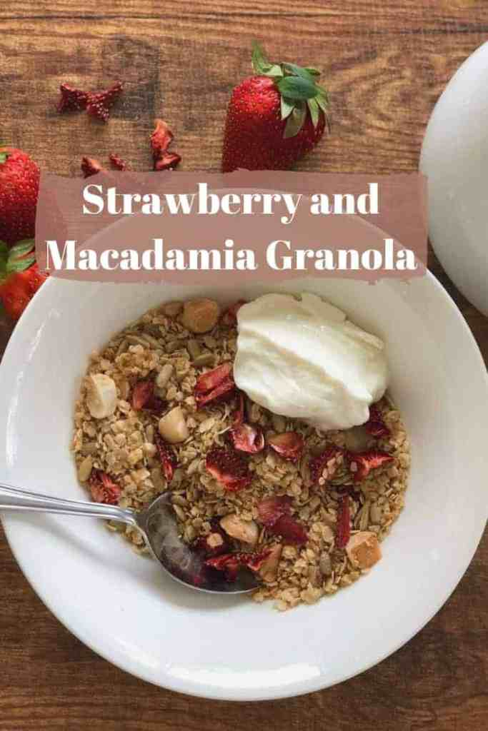 Strawberry and Macadamia Muesli