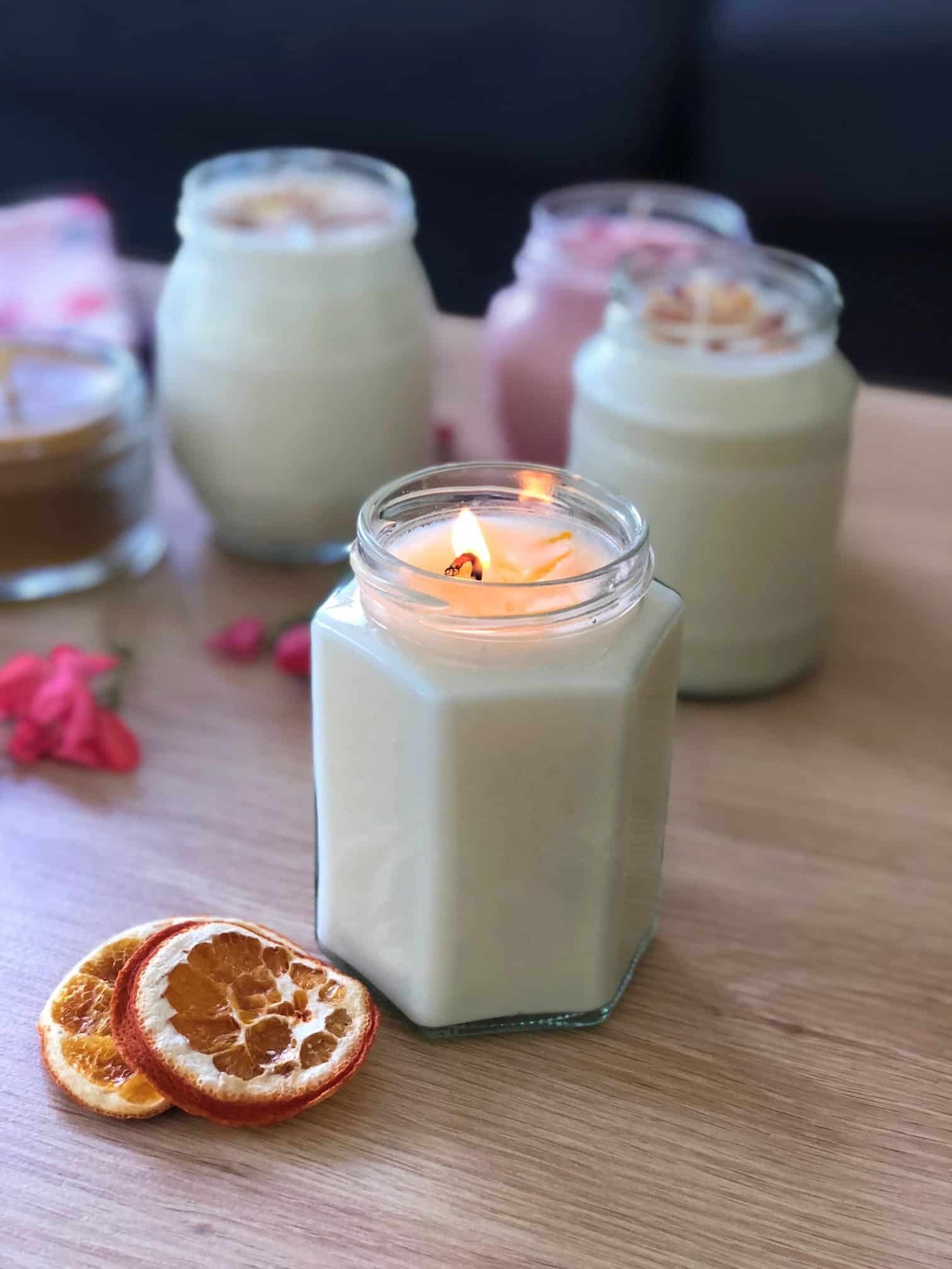 Homemade Scented Candles