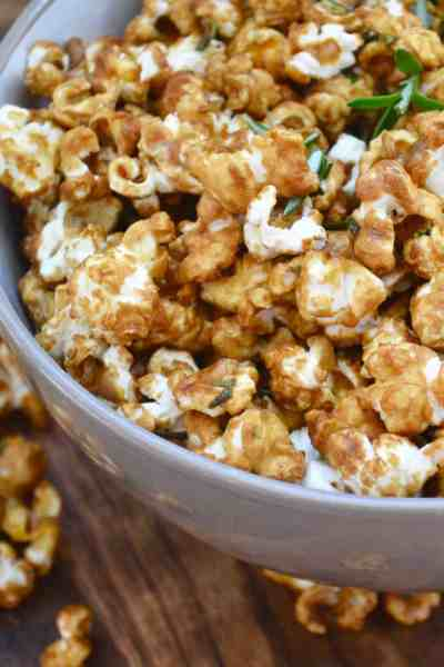 Salted Caramel and Rosemary Popcorn
