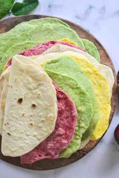 homemade soft tortilla wraps
