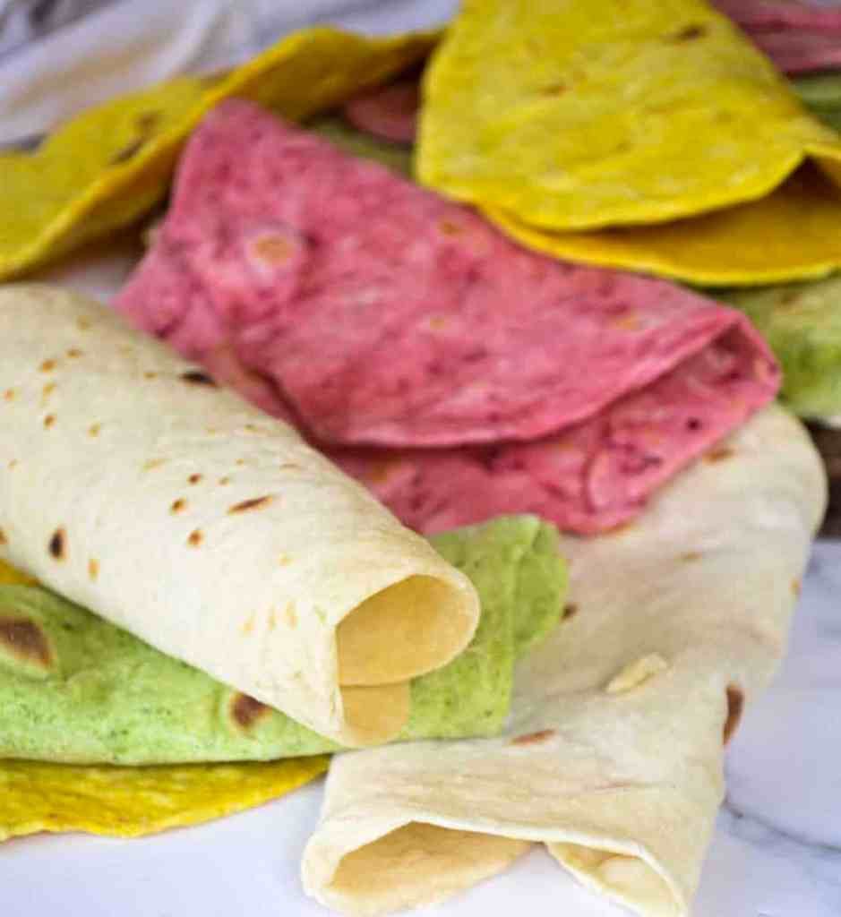 homemade soft tortilla wraps