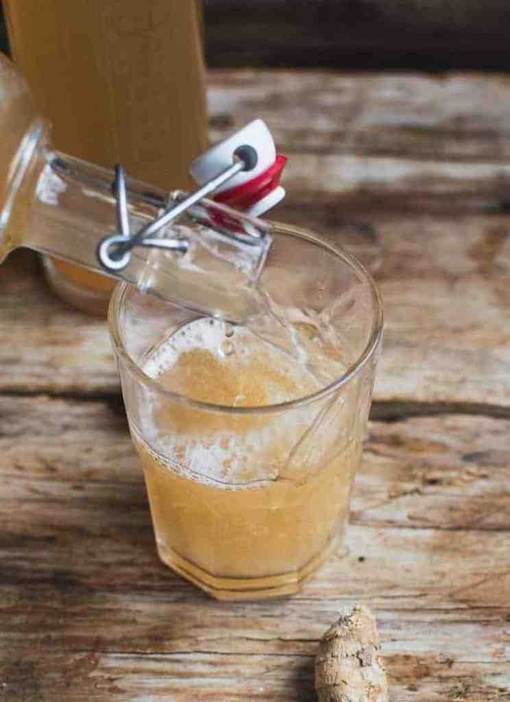 Healthier Homemade Ginger Beer