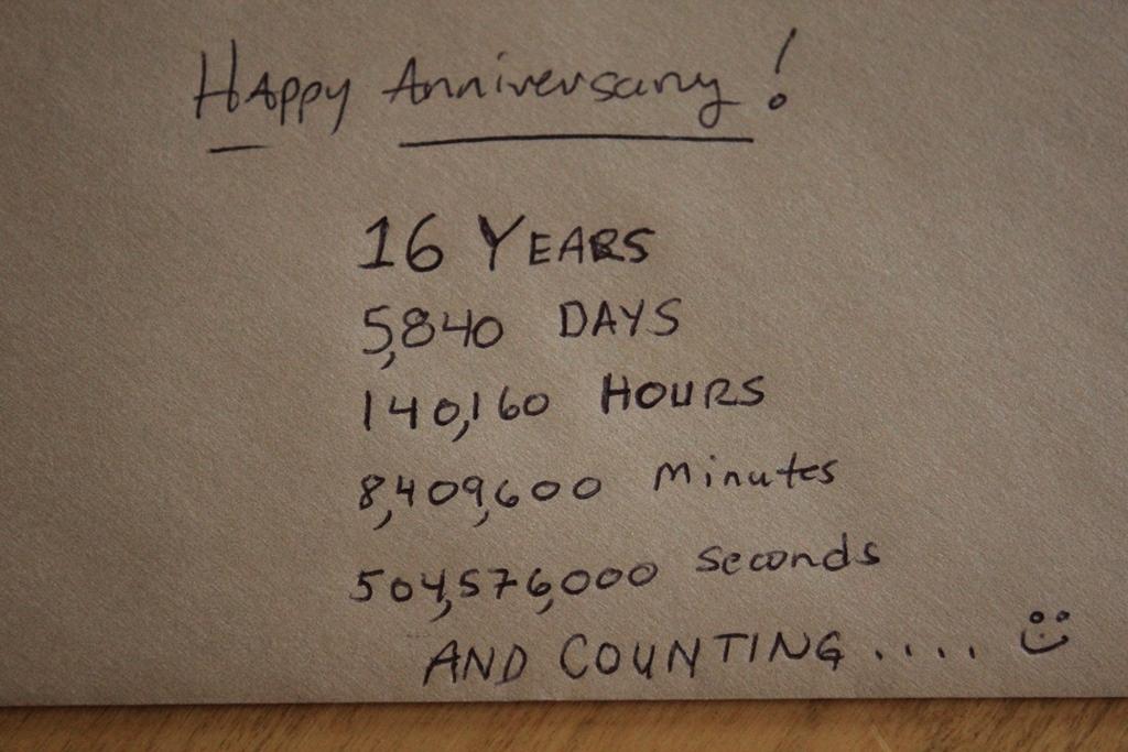 Happy 16th Anniversary  Homegrown Hatfields