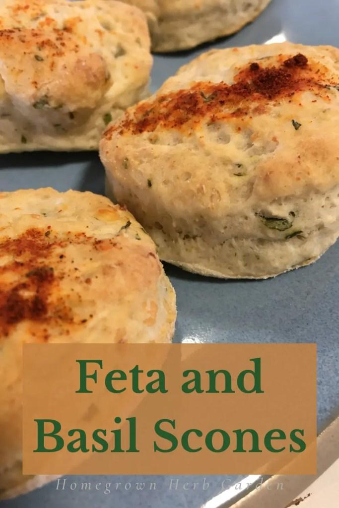 basil and feta cheese scones