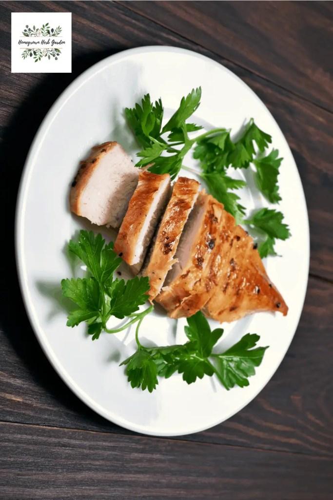 herb butter basted chicken