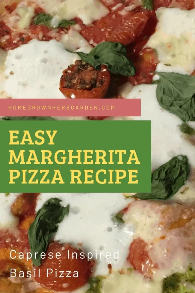 Margherita Pizza with basil three ways