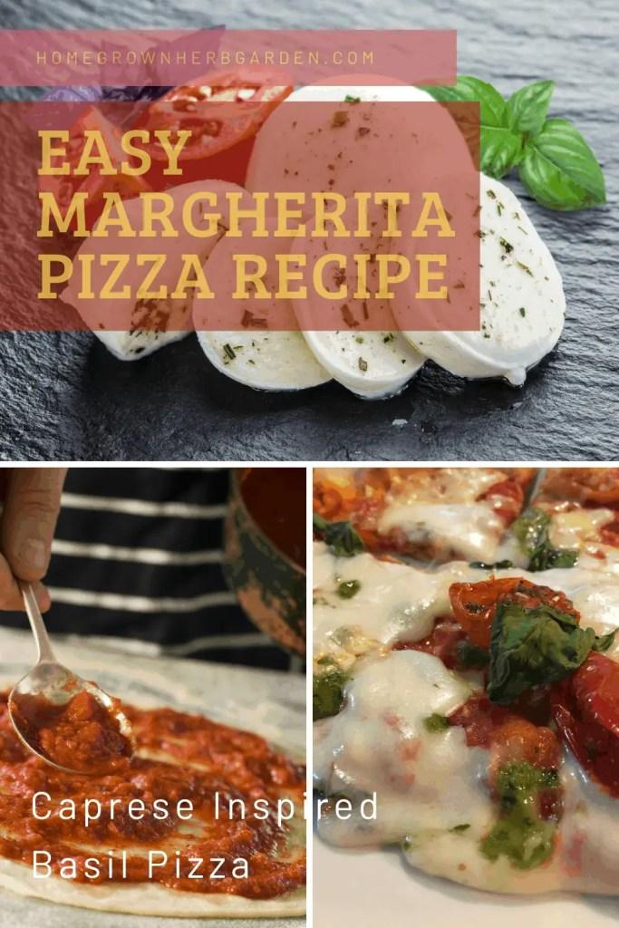 Easy Homemade Margherita pizza