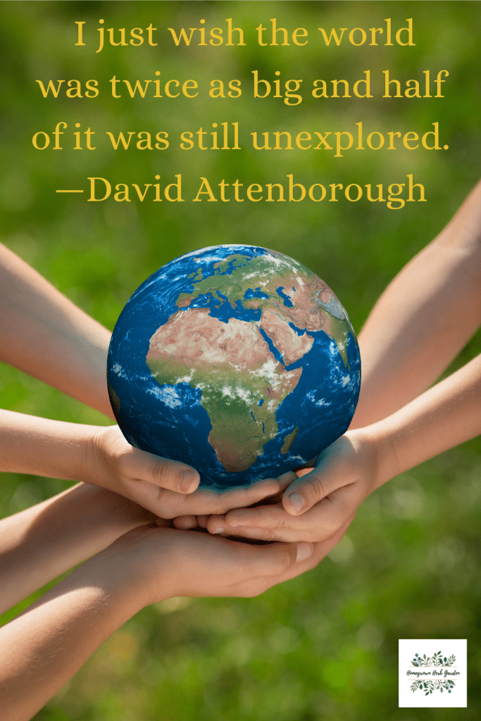 I just wish the world was twice as big and half of it was still unexplored. —David Attenborough
