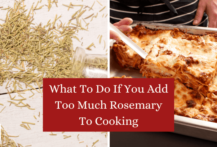what to do if you add too much rosemary to cooking