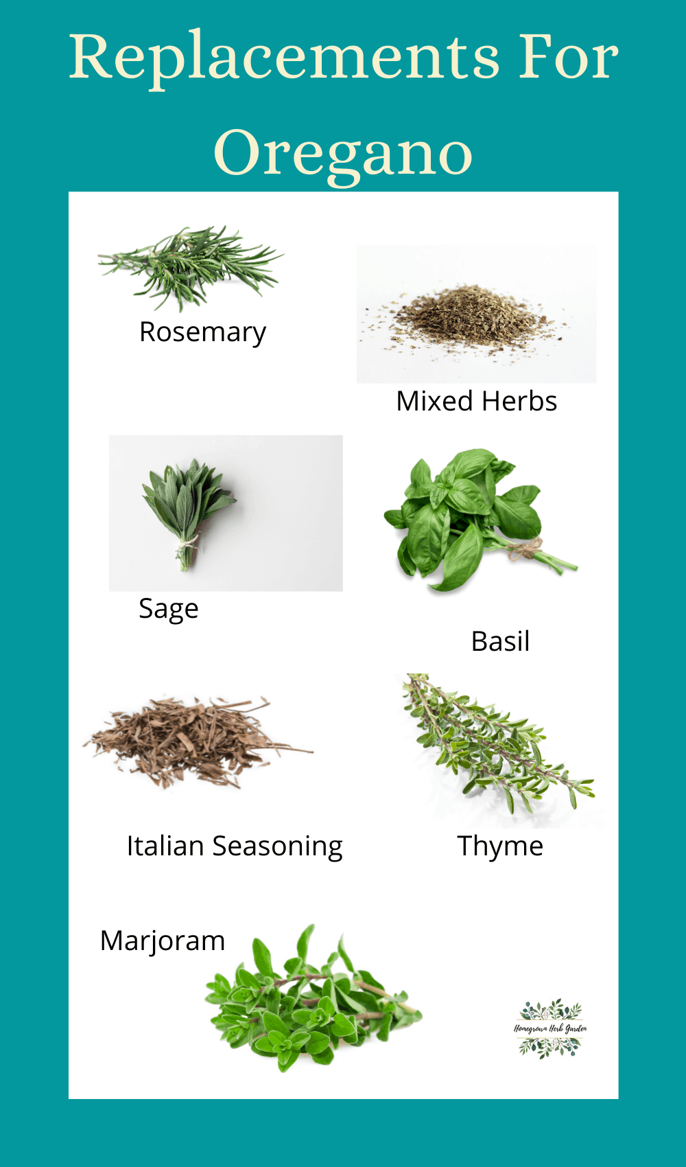 Replacements for Oregano