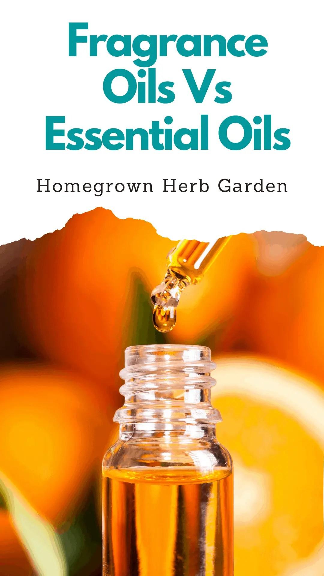 fragrance oils vs essential oils