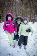 Me and my girls in the snow