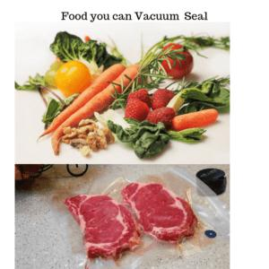 what kind of food can you vacuum seal