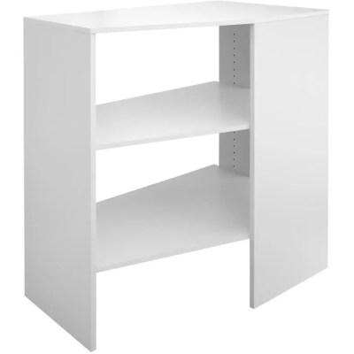 closetmaid etagere de coin suitesymphony a 3 tablettes empilables blanc pur