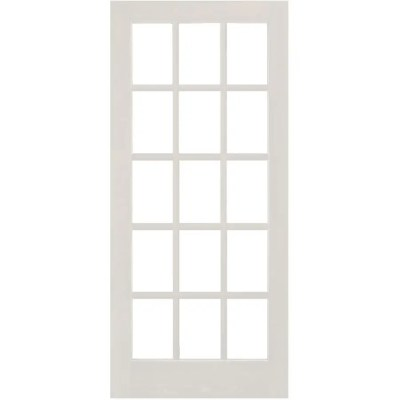 jeld wen 28 x 80 15 lite clear glass primed french door