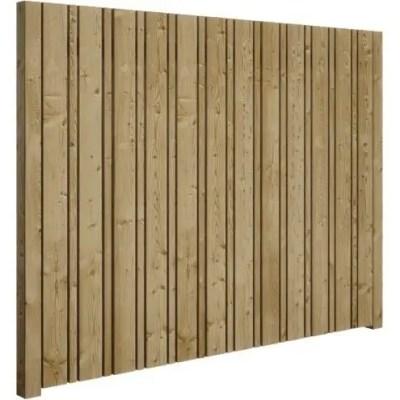 ensemble de cloture d intimite columbia en bois traite sous pression de 4 pi