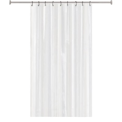 splash home 8 gauge eva heavy duty shower stall curtain clear 54 x 78 8